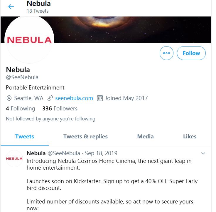 Nebula- twitter last post